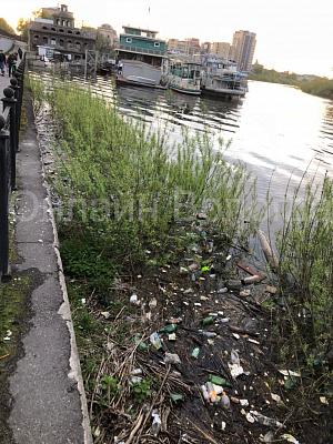 Что творится в нашем городе? Вся река в мусоре!