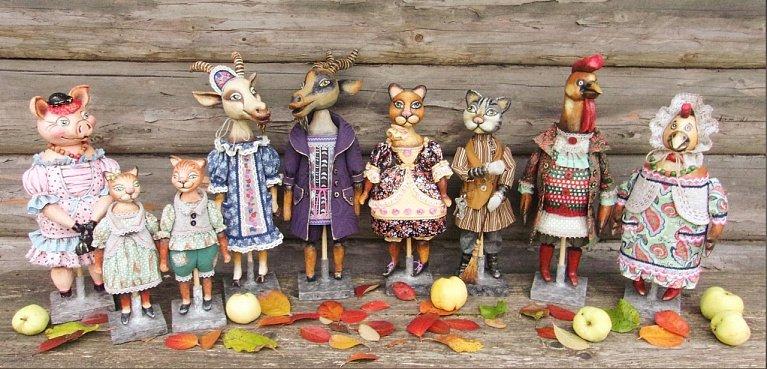 В вологодском музее открылась выставка авторских кукол